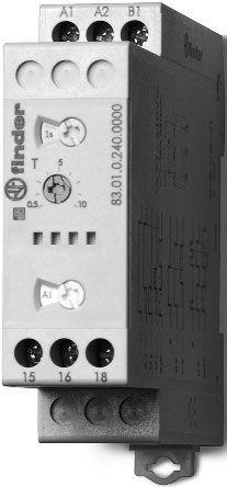 Przekaźnik czasowy 1CO 16A 12-240V AC/DC, Wielofunkcyjny AI, DI, GI, SW, BE, CE, DE 83.01.0.240.0000