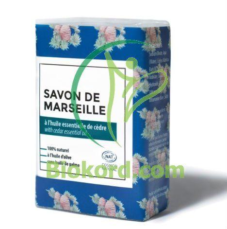Mydło Marsylskie Perfumowane Cedr BIO, 100g