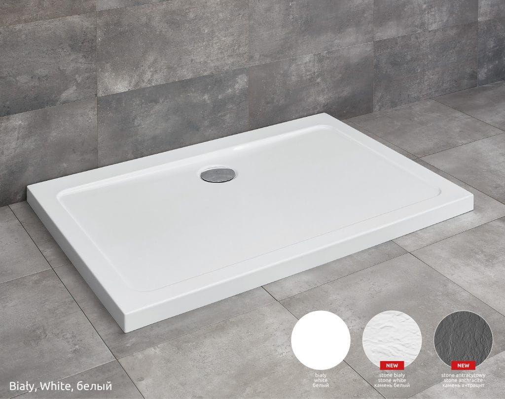 Radaway brodzik akrylowy ze strukturą Doros D Stone biały 90x80cm SDRD9080-01-04S