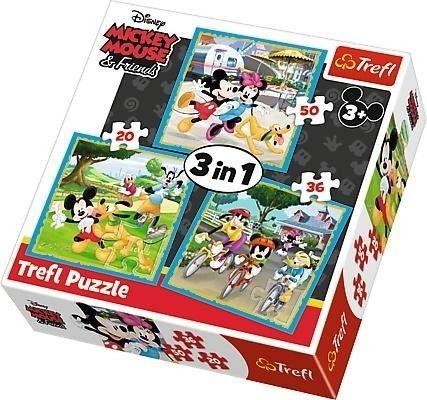 Puzzle 3w1 Myszka Miki z Przyjaciółmi 50, 20, 36 elementów TREFL