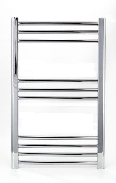 Grzejnik łazienkowy eco york - wykończenie proste, 500x800, chromowany