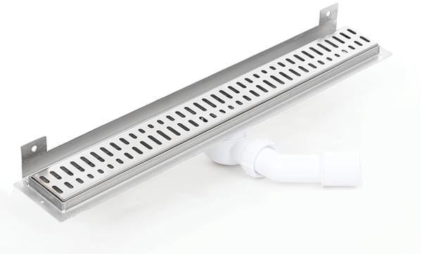 Kesmet Wall Silver Wave In odpływ ścienny 1000KWF_p 1000mm (syfon plastikowy)
