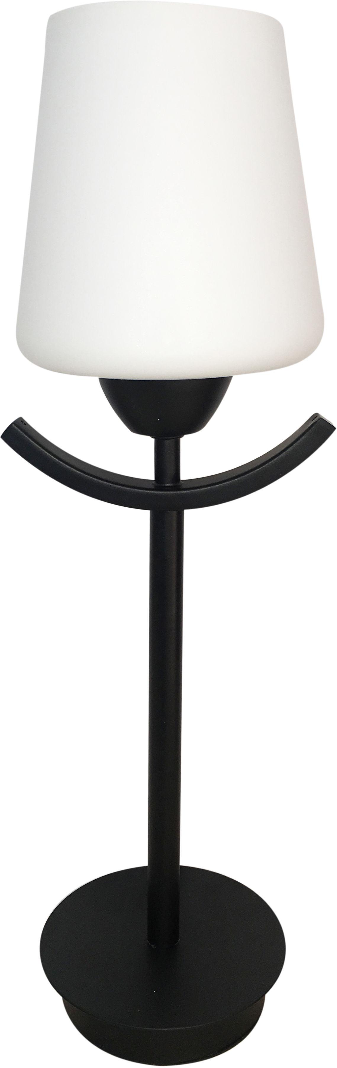 Candellux LONDYN 41-38852 lampa stołowa czerń z bielą 1X60W E27 13 cm