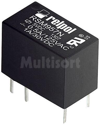 Przekaźnik: elektromagnetyczny; SPDT; Ucewki :5VDC; 0,5A/125VAC