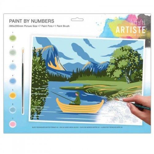 Kreatywny zestaw do malowania po numerach Góry i jeziora