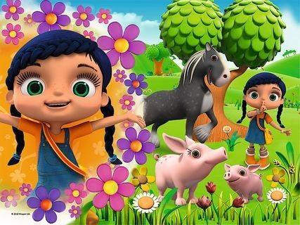 Puzzle 30 Elementów Wissper i Zwierzęta dla Dzieci TREFL