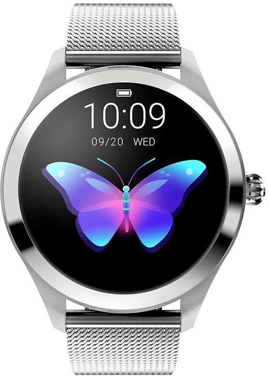 Zegarek SmartWatch damski Rubicon RNBE37 SIBX 05AX - stalowy / srebrny