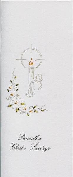 Karnet Chrzest DL C14 - Świeca