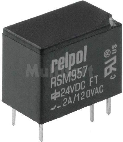 Przekaźnik: elektromagnetyczny; SPDT; Ucewki :24VDC; 2A/120VAC