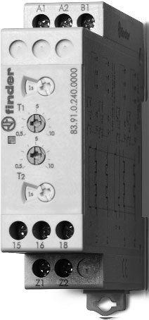 Przekaźnik czasowy 1CO 16A 12-240V AC/DC, Funkcja LI, LE, PI, PE 83.91.0.240.0000
