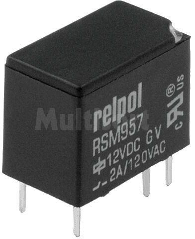 Przekaźnik: elektromagnetyczny; SPDT; Ucewki :12VDC; 2A/120VAC