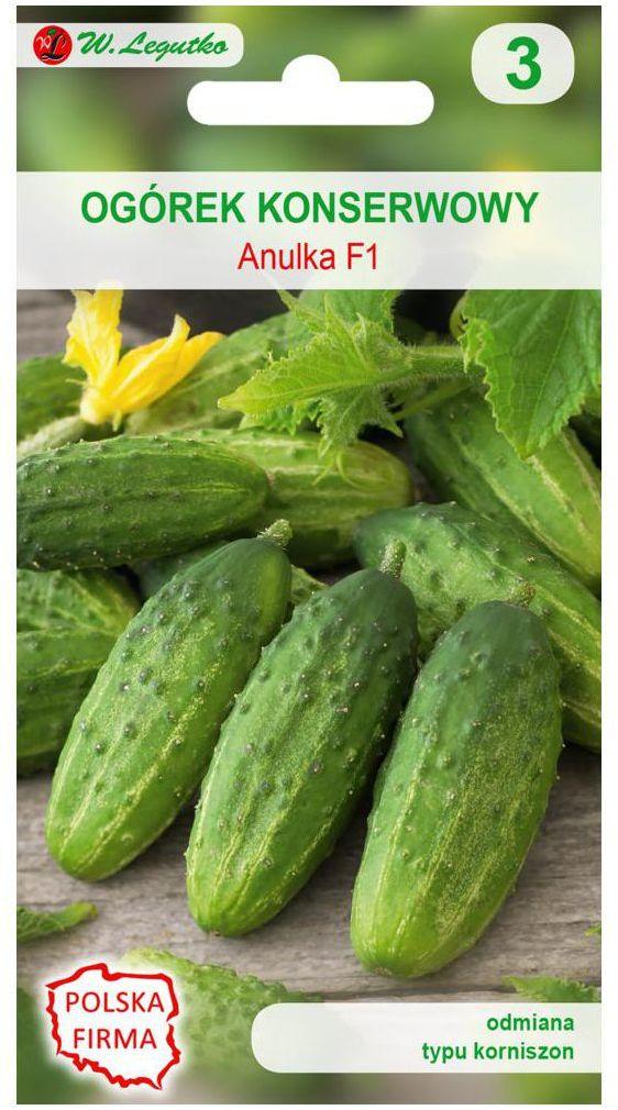 Ogórek konserwowy typu korniszon ANULKA F1 nasiona tradycyjne 3 g W. LEGUTKO