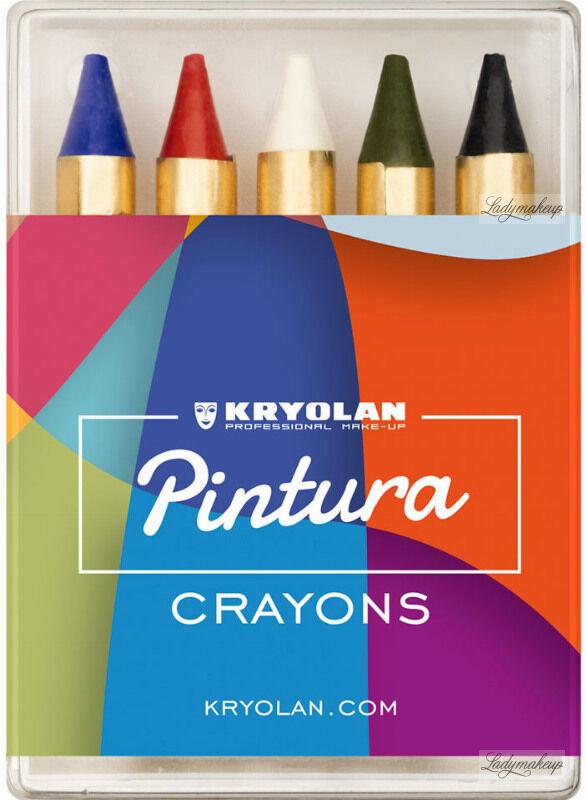 KRYOLAN - PINTURA CRAYONS - Kredki do malowania twarzy i ciała - 5 szt. - ART. 86105