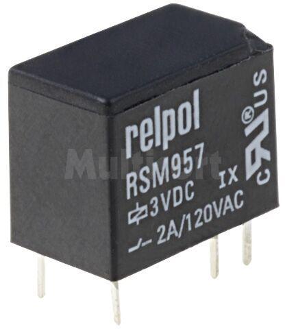 Przekaźnik: elektromagnetyczny; SPDT; Ucewki :3VDC; 2A/120VAC