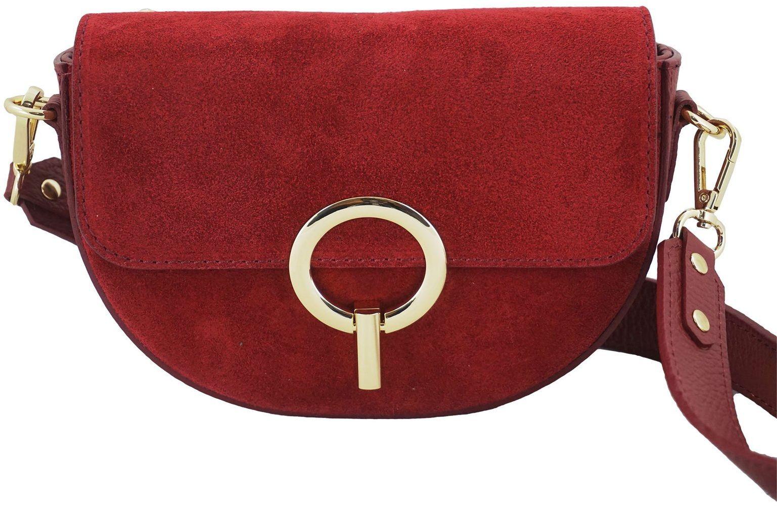 Modna torebka wizytowa skórzana - Czerwona