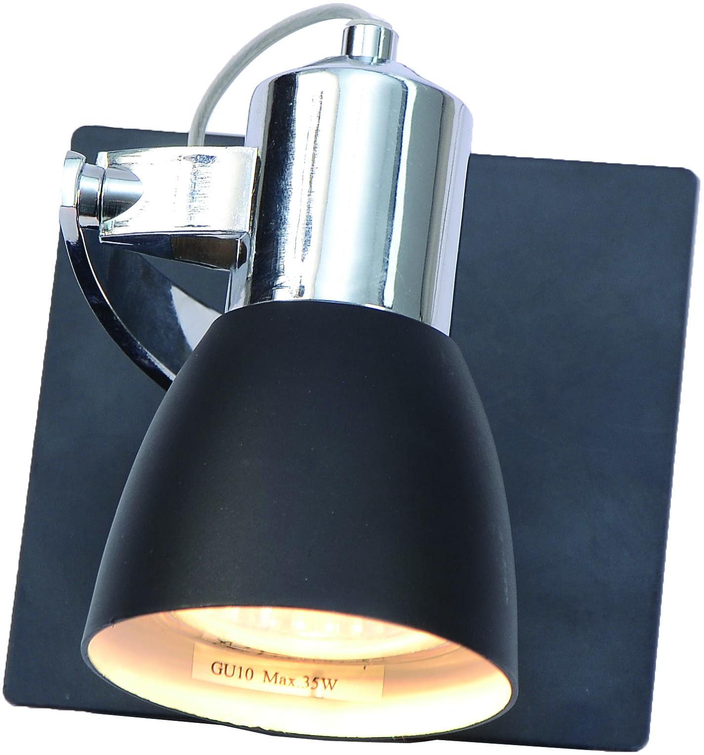 Light Prestige Rawenna 1 LP-727/1W czarny kinkiet lampa ścienna metalowa 1x50W GU10 10cm