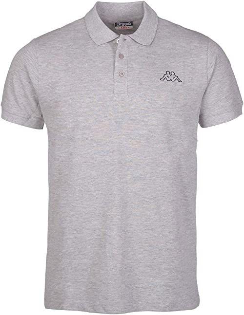 Kappa Peleot koszulka polo, męska, koszulka polo, szara (szary melanż), XXL