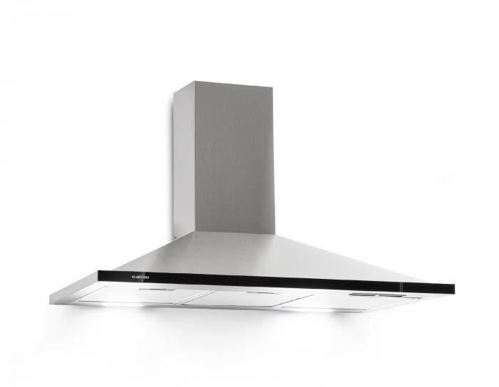 Klarstein Galina 90 okap kuchenny wyciąg 90 cm 350m/h LED stal nierdzewna szkło akrylowe