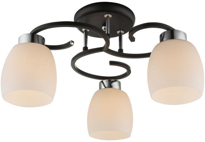 Globo PESSOA IV 69018-3 plafon lampa sufitowa czarna 3xE27 48cm