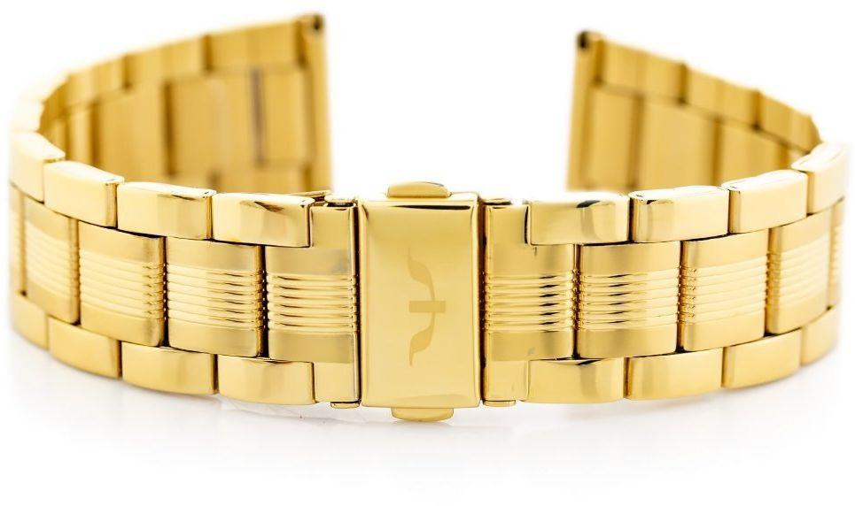 Bransoleta Bisset (bb016b) - złota 20mm