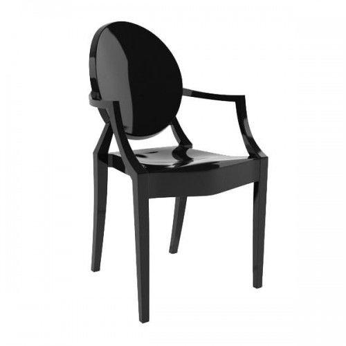 Krzesło Duch czarne