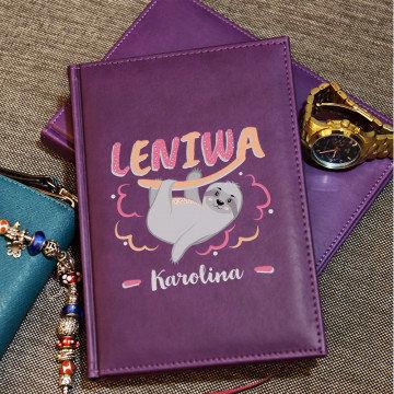 Leniwa - notatnik A5 z nadrukiem