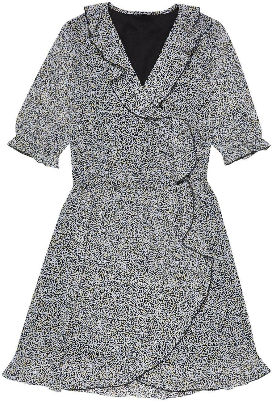 Zwiewna sukienka w groszki