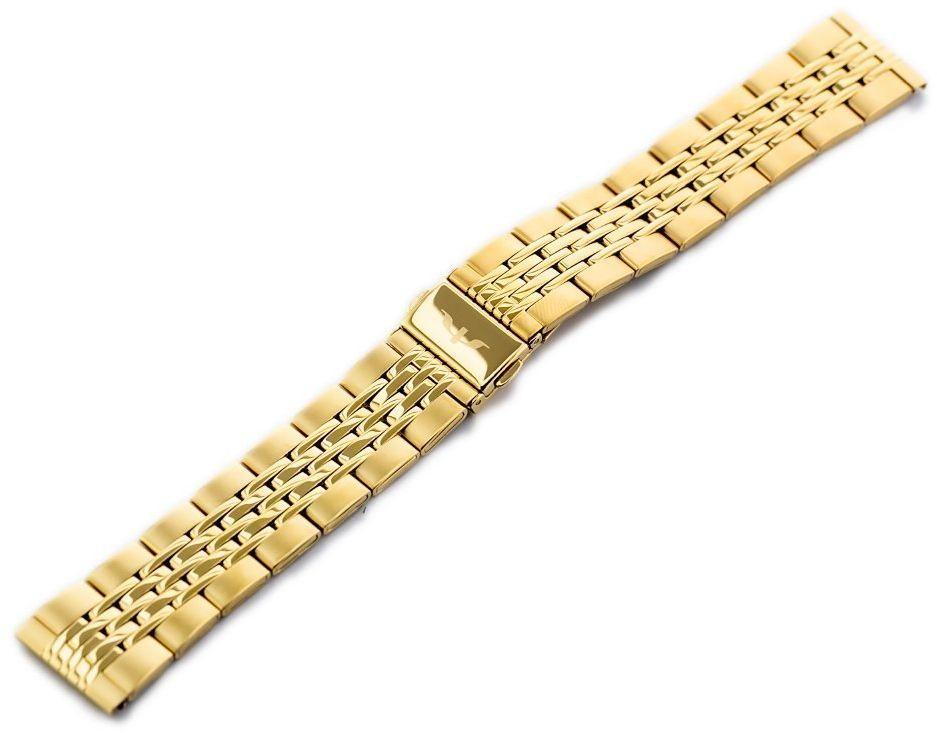 Bransoleta Bisset (bb017b) - złota 20mm