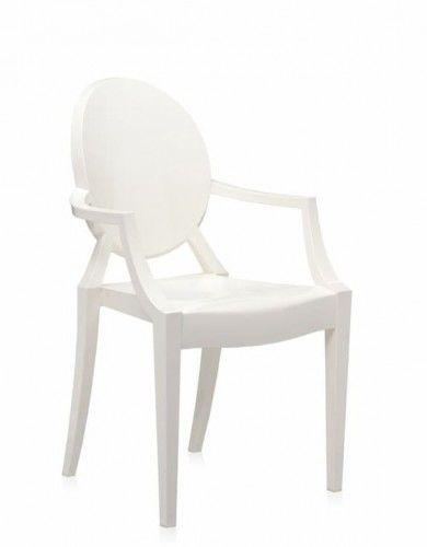 Krzesło Duch białe - inspiracja proj. Louis Ghost