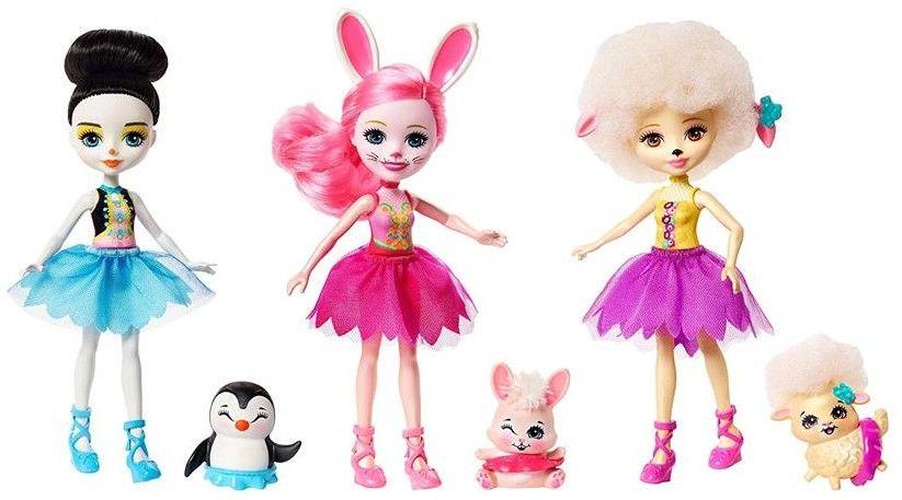 Enchantimals - Zestaw 3 lalki + 3 zwierzątka FRH55