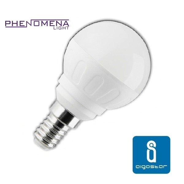 Żarówka LED E14 5W zimna 6500K kulka - Biały Zimny