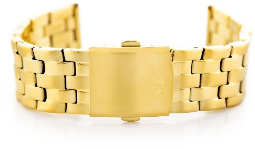 Bransoleta Bisset (bb018b) - złota 22mm