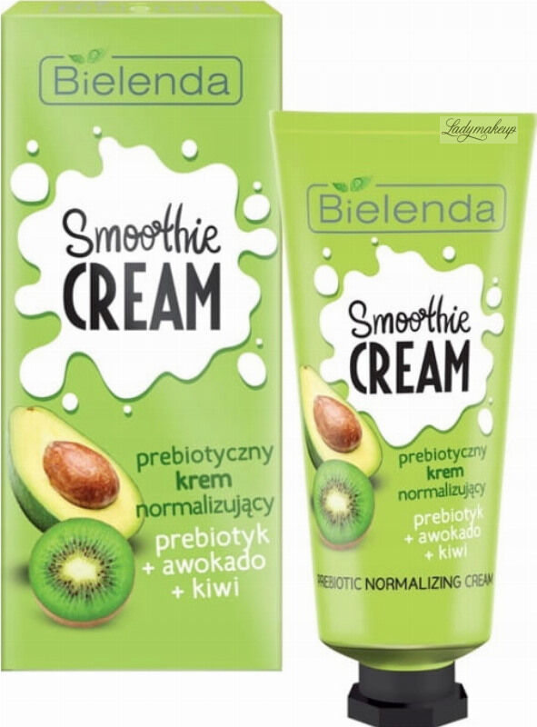 Bielenda - SMOOTHIE CREAM - Prebiotic Normalizing Cream - Prebiotyczny krem normalizujący - Prebiotyk + Awokado + Kiwi - 50 ml