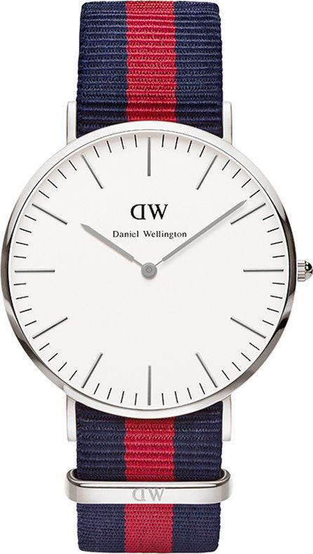 DANIEL WELLINGTON CLASSIC OXFORD SILVER STEEL 0201DW / DW00100015-DARMOWA DOSTAWA-GWARANCJA-VICTORYTIME.PL