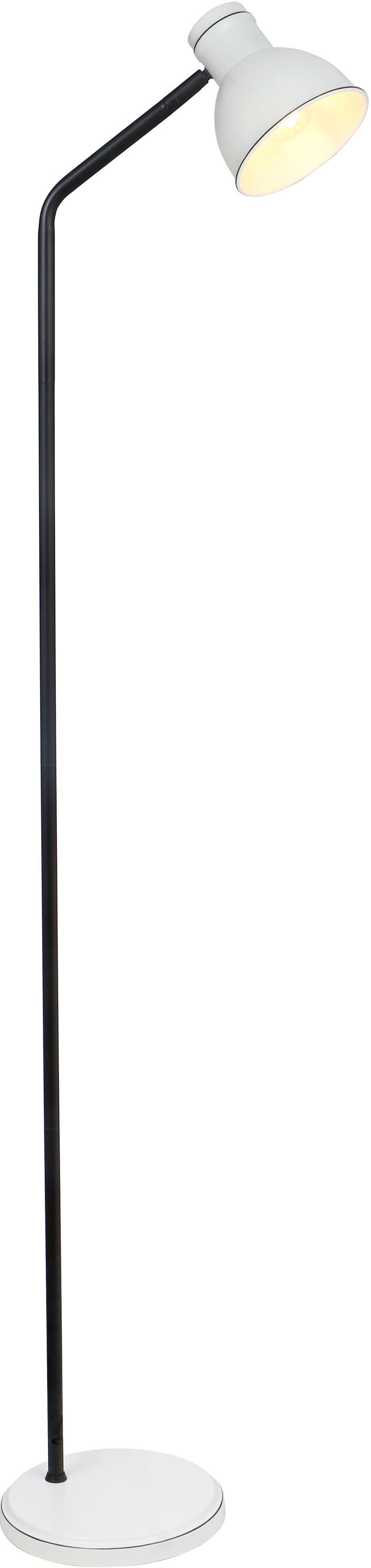 Candellux ZUMBA 51-72092 lampa podłogowa biało czarna klosz metal 1X40W E27 15 cm