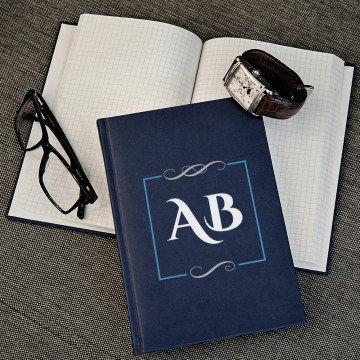 Inicjały - notatnik A5 z nadrukiem
