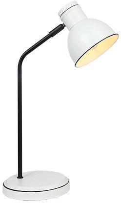 Candellux ZUMBA 41-72078 lampa stołowa klosz metalowy biały czarny 1X40W E14 11,5 cm