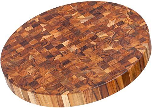 Teakhaus Deska do krojenia 45,7x5 cm okrągła, drewno, brązowa, 45x20x15 cm