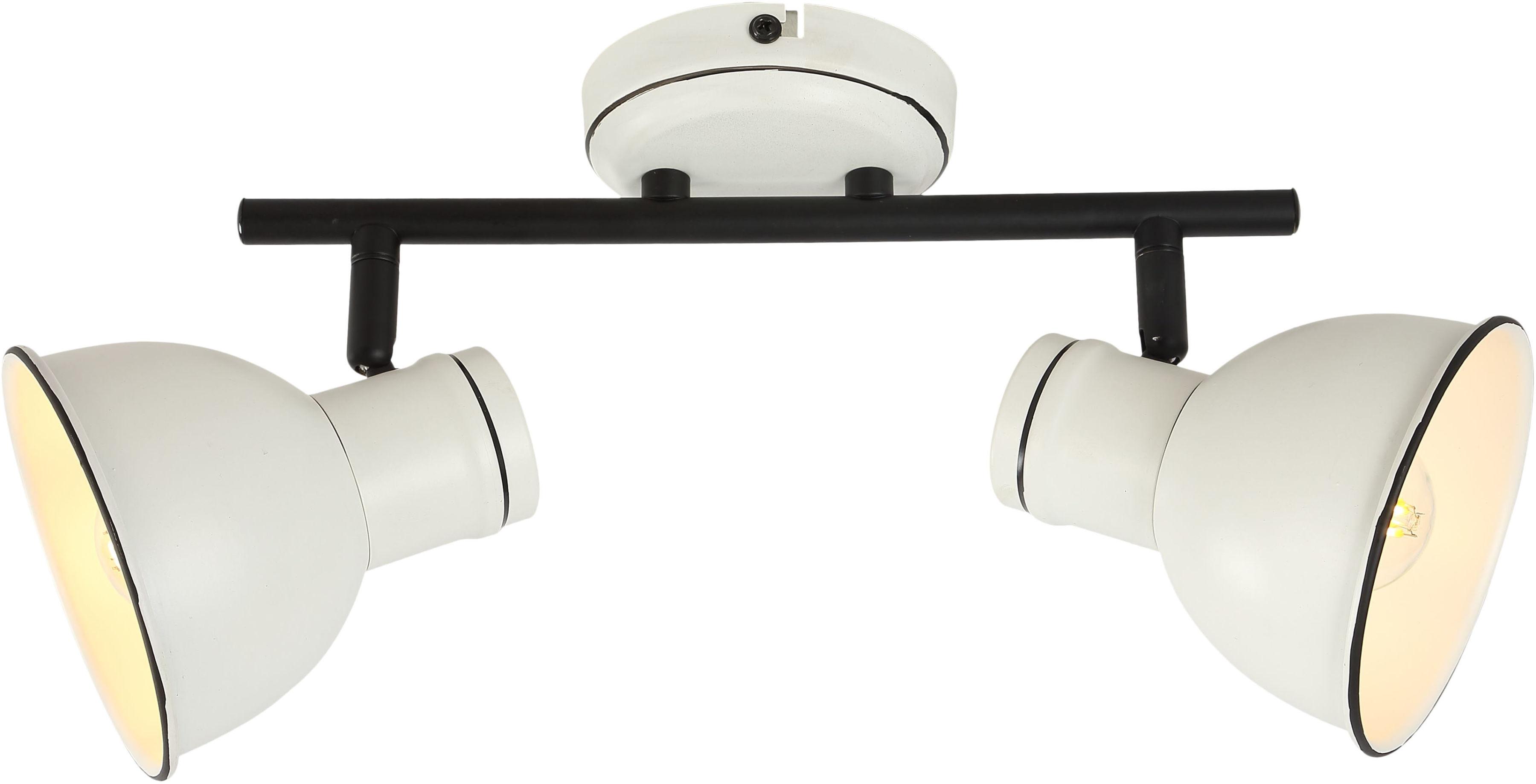 Candellux ZUMBA 92-72139 plafon lampa sufitowa listwa klosz metal biały czarny 2X40W E14 39 cm