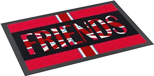 ASTRA 1672040002 mata, wycieraczka pod drzwi, wycieraczka Flag Design Friends, 50 x 75 cm, czerwona