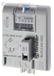 Moduł czasowy do przekaźnika 12-240V AC/DC, Wielofunkcyjny AI, DI, SW, BE, CE, DE, EE, FE 86.00.0.240.0000
