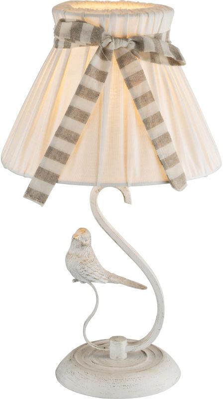 Globo SAVIO 69027T lampa stołowa 1xE14 biało-złota 25cm