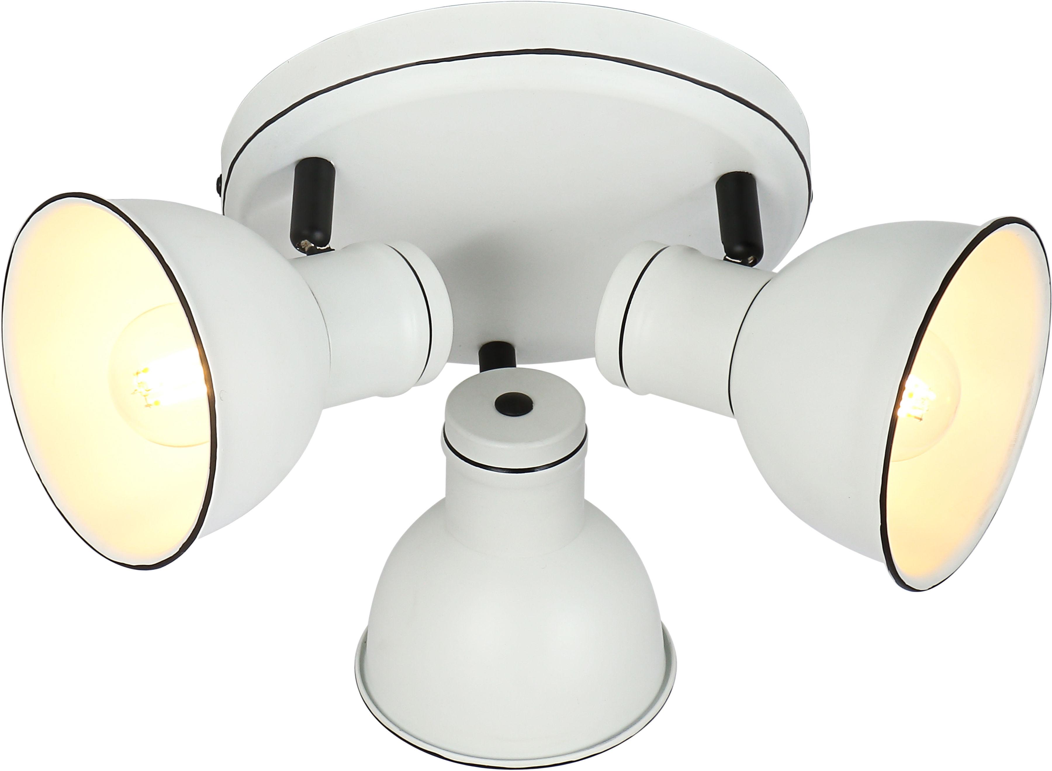 Candellux ZUMBA 98-72160 plafon lampa sufitowa listwa biały czarny 3X40W E14 33 cm