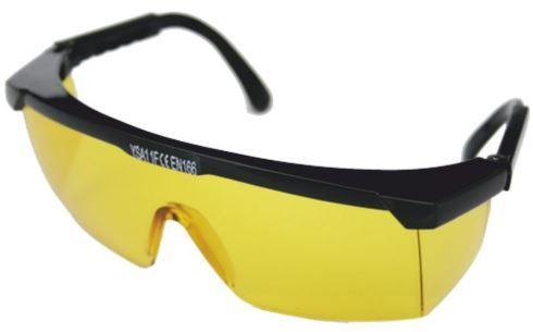Okulary ochronne zauszniki regulowane żółte