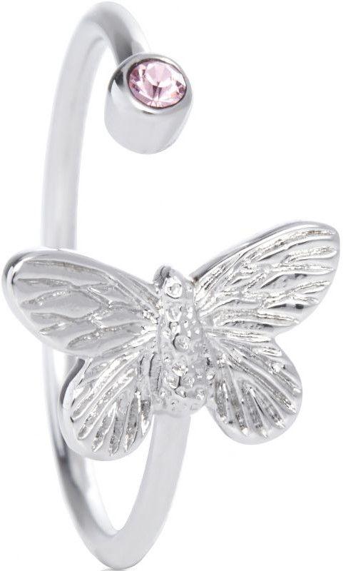Biżuteria damska Olivia Burton Jewellery Silver Plated Bejewelled Butterfly  Ring OBJ16MBR02