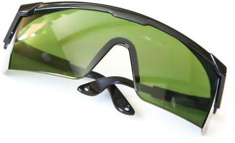 Okulary ochronne zauszniki regulowane zielone