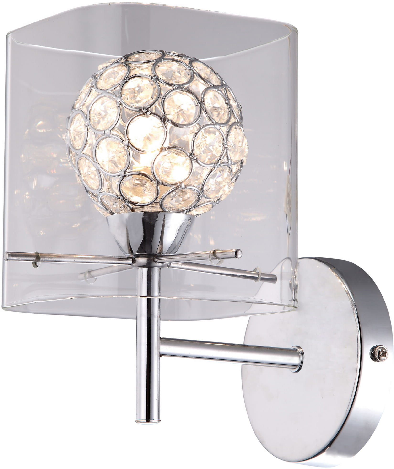 Light Prestige Spark LP-5193/1W transp kinkiet lampa ścienna transparentna klosz kula 1x33W G9 13cm