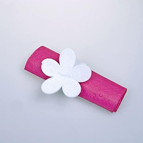Serwetki z filcu - kwiat - biały - 12 sztuk - 23 x 8 cm - 56003 00