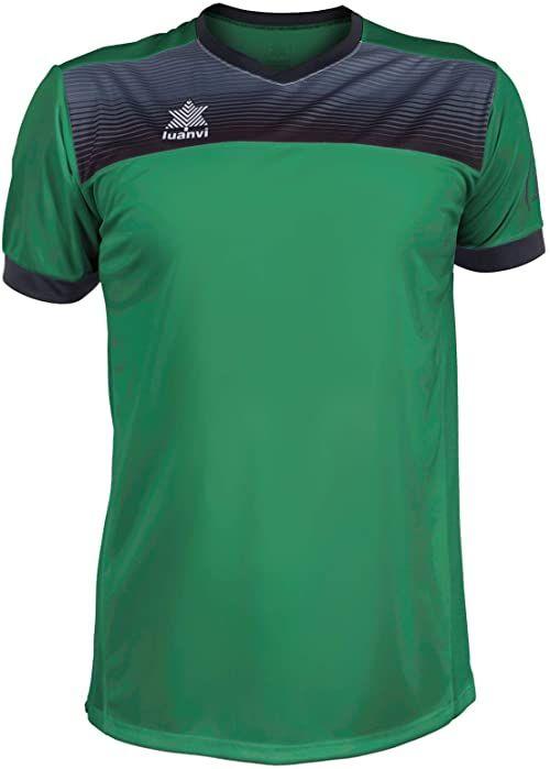 Luanvi Męska koszulka tenisowa Bolton z krótkimi rękawami. zielony zielony 4XS