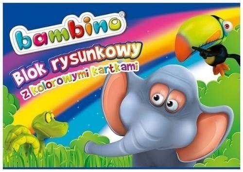 Blok rysunkowy kolorowy A4/16K (10szt) BAMBINO